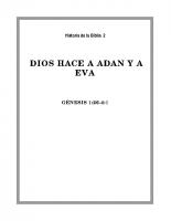 002 Dios hace a Adan y Eva