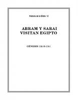 012 Abram y Sarai visitan Egipto