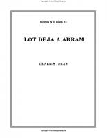 013. Lot deja a Abram