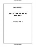 027. Tu nombre sera Israel