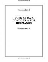 032. Jose se da a conocer a sus hermanos