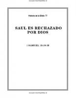 077. Saul es rechazado por Dios