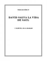 081 David salva la vida de Saul