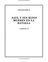 082. Saul y sus hijos mueren en la batalla