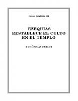 114 Ezequias restablece el culto en el Templo