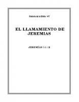 147 El llamamiento de Jeremias