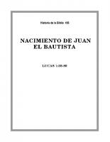 166 Nacimiento de Juan el Bautista