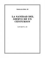 189 La sanidad del siervo de un centurion