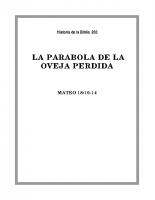 203 La parabola de la Obeja perdida
