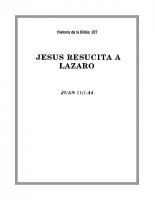 207 Jesús resucita a Lazaro