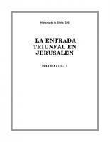 220 La entrada triunfal en Jerusalen