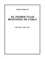 258 El primer viaje misionero de Pablo