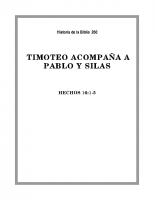 260 Timoteo acompaña a Pablo y Silas