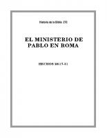 270 El Ministerio de Pablo en Roma